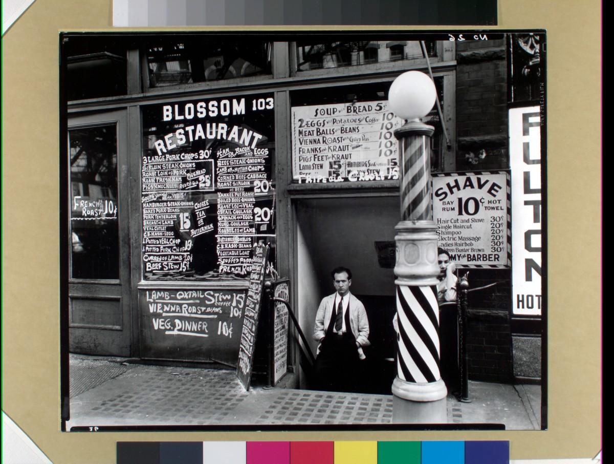 Blossom Restaurant, 103 Bowery, Manhattan, 1935