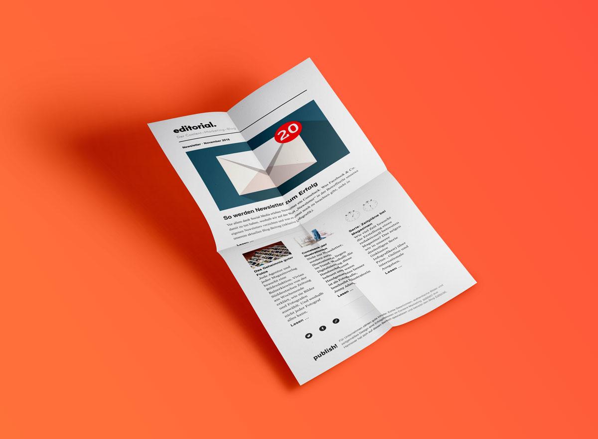 November-Newsletter des Editorial Blogs von der Content-Marketing-Agentur publish mit Tipps, wie man gute Newsletter schreibt.