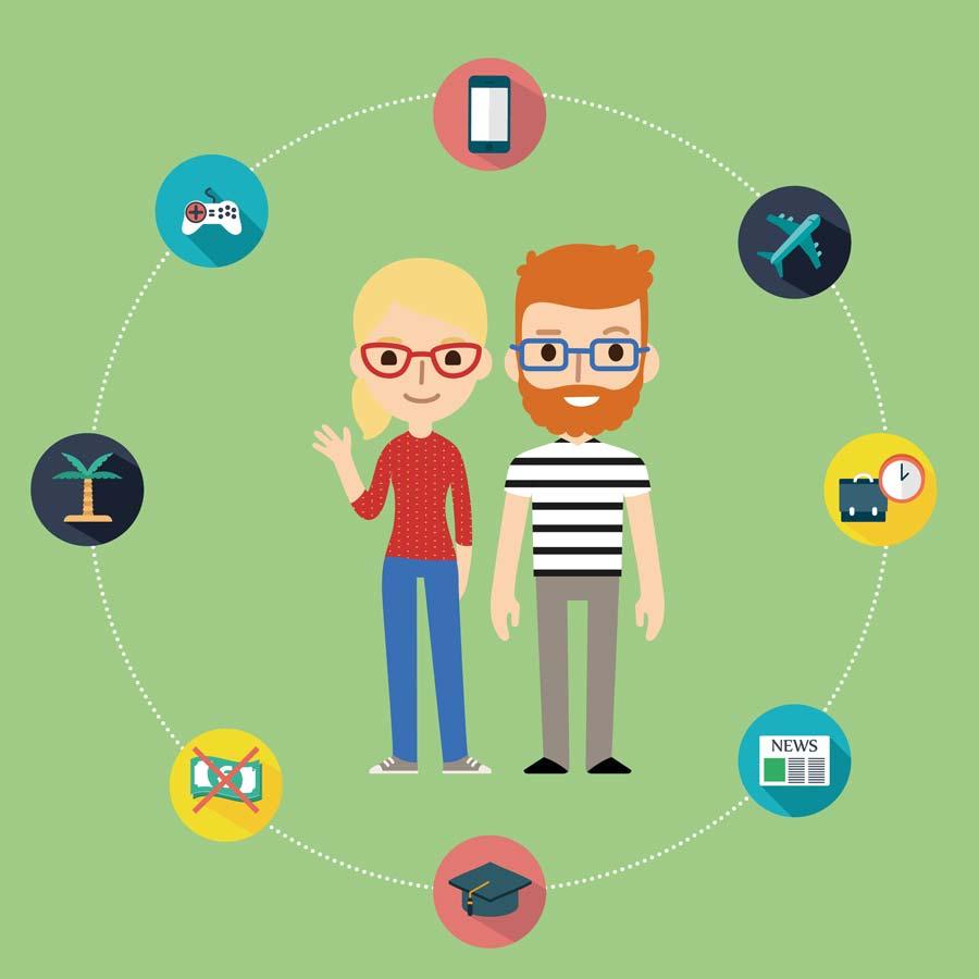 Millennials und was sie verkörpern: Gesundheit, Reisen, Freiheit.