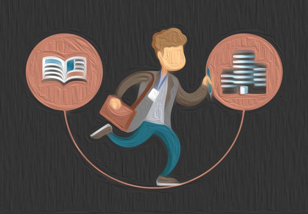 Ein Journalist wechselt die Seiten: Er schreibt nicht mehr für einen Verlag, sondern geht in eine Unternehmenszentrale und macht PR bzw. Unternehmenskommunikation.