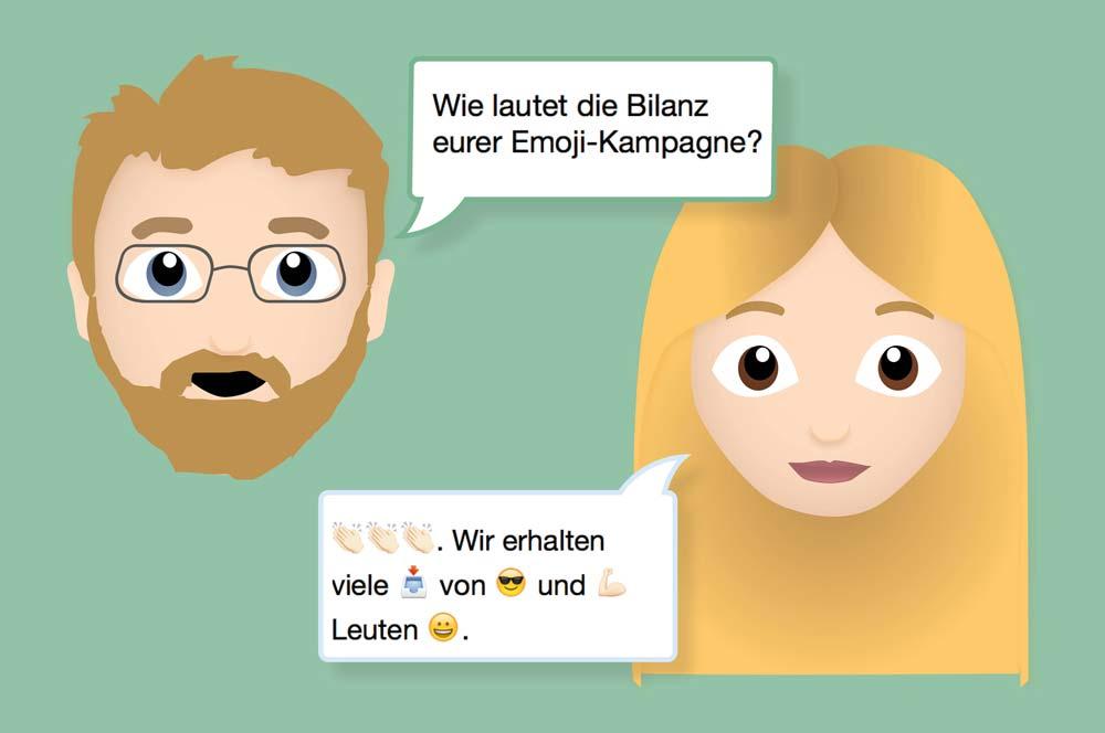 Bilanz der Emoji-Kampagne von Prizeotel? Die Antwort gibt Veronika Diesenbacher in Emojis.