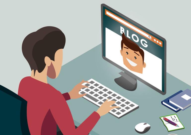 """Dieser Blog zeigt Gesicht - im wahrsten Sinne: Der Autor der """"Über mich""""-Seite zeigt dem Leser sein freundliches Antlitz."""