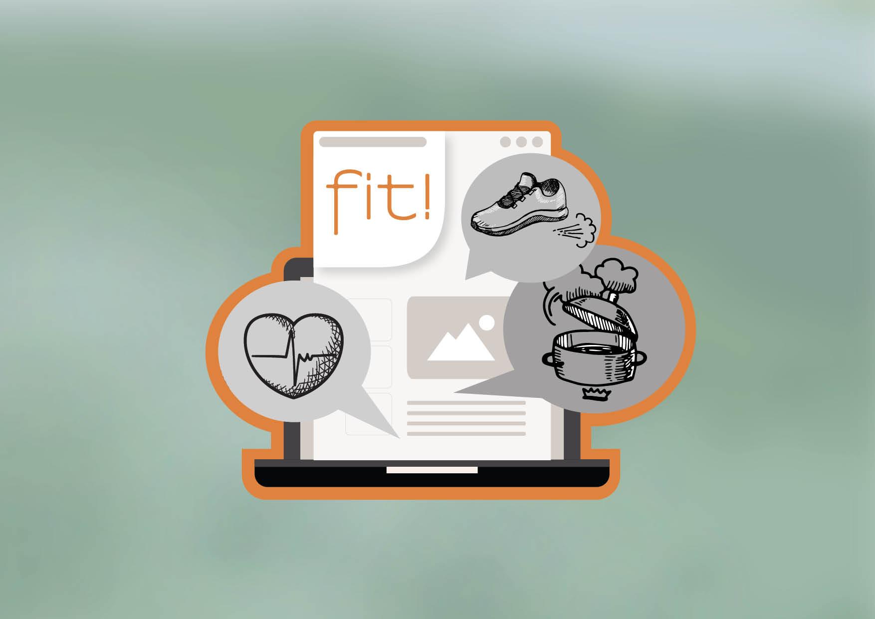 """Das DAK-Magazin """"fit"""" behandelt Themen aus Gesundheit, Ernährung und Sport."""