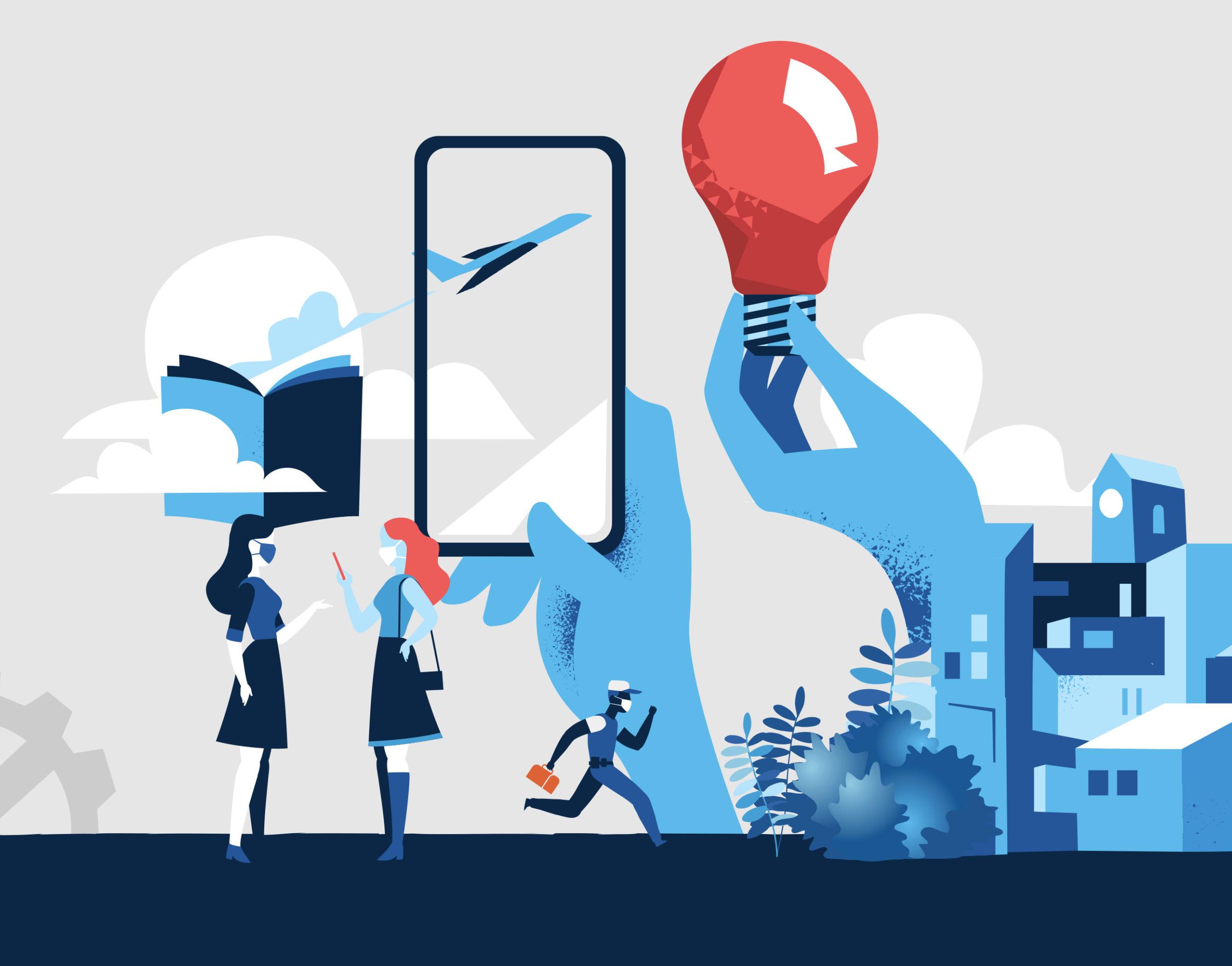 Symbolbild zum Stand der Digitalisierung der Kommunikation in Unternehmen.